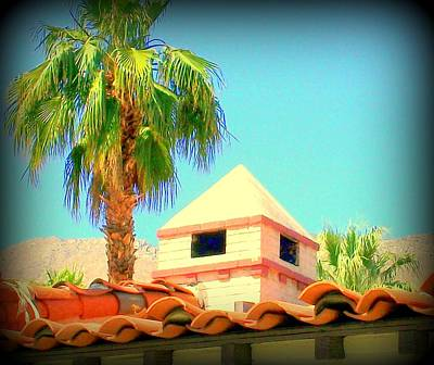 Palm Springs Pyramid Colonial Art Print by Randall Weidner