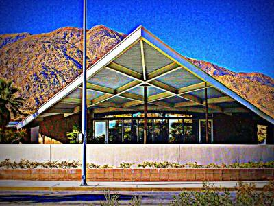 Palm Springs Visitor Center Tramway Gas Station Art Print by Randall Weidner