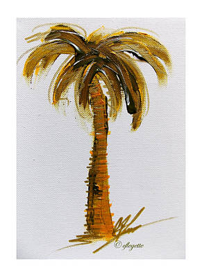 Painting - South Carolina Palm Tree by C F Legette