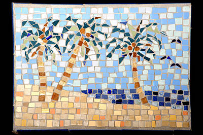 Photograph - Palm Tree Mosaic by Lou Ann Bagnall