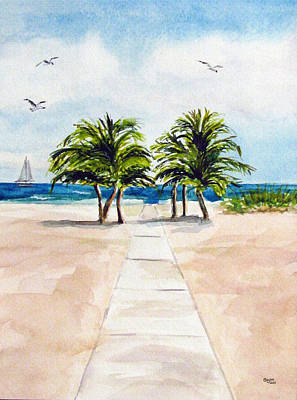 Painting - Palm Trees by Clara Sue Beym