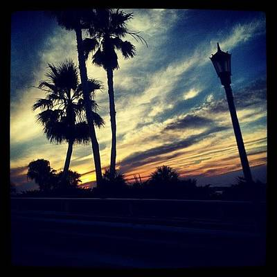 Sunset Wall Art - Photograph - #palm Trees #sunset #sky #beautiful by Mandy Shupp