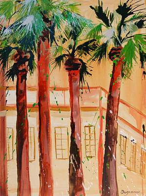 Palm Trees Art Print by Suzanne Willis