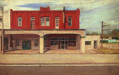 Briex Painting - Palmer Hotel And Cafe In Afton Ok by Nop Briex