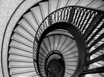 Palmer House Staircase Art Print by Sheryl Thomas