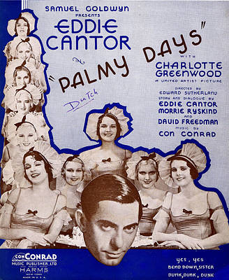 Old Sheet Music Photograph - Palmy Days by Mel Thompson