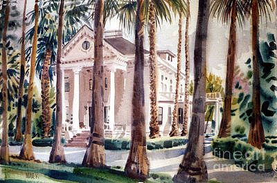 Painting - Palo Alto Mansion by Donald Maier