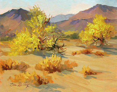 Spring Scenery Painting - Palo Verde In Bloom by Diane McClary