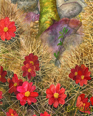 Painting - Palo Verde 'mong The Hedgehogs by Eric Samuelson