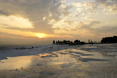 Photograph - Pamukkale Sunset by Michele Burgess