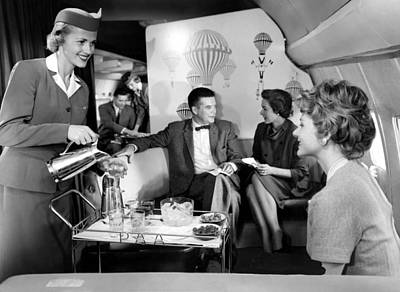 1950s Fashion Photograph - Pan Am Airlines Introduces The Boeing by Everett