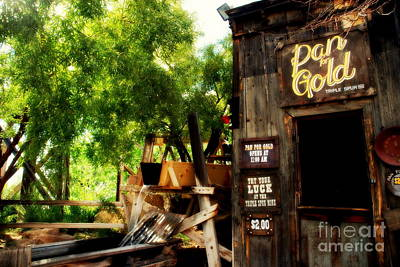 Gold Panning Photograph - Pan For Gold In Old Tuscon Arizona by Susanne Van Hulst