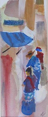 Panajachel Painting - Pana Market by Stewart Haile