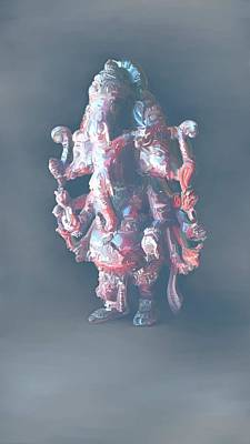 Vinayaka Painting - Panchamukha Ganesha 2 by Usha Shantharam