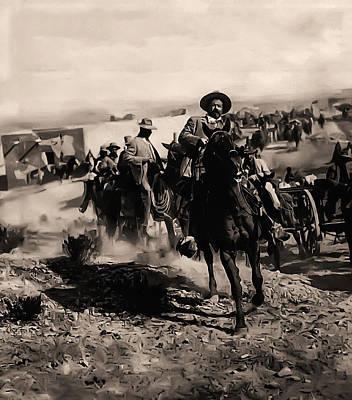 Pancho Villa Rides Again Art Print by Bill Cannon