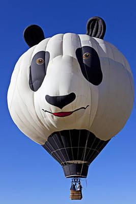 Photograph - Panda Bear Hot Air Balloon by Garry Gay