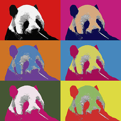 Photograph - Panda Pop Art 2 by Lou Ford