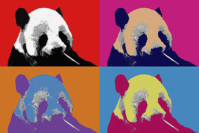 Photograph - Panda Pop Art by Lou Ford