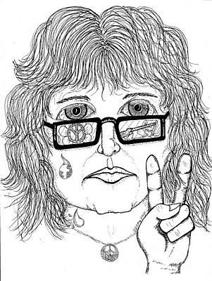 Peace Drawing - Pandemonium by Barbra Drasby