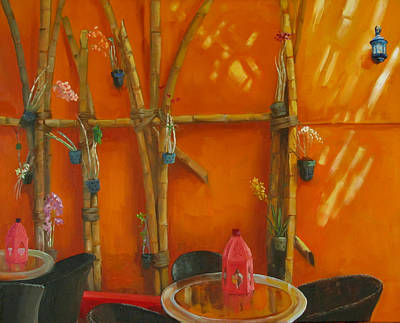 Bamboo Chair Painting - Pangea Garden by Podi Lawrence