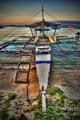 Photograph - Panglao Island Boat by Yhun Suarez