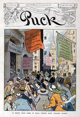 Panic Of 1907. Illustration Shows Art Print by Everett