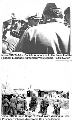 Photograph - Panmunjom Korea Pow Exchange Agreement by Merton Allen