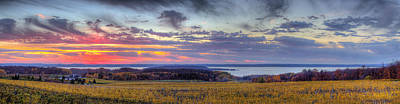 Panorama From Old Mission Peninsula Print by Twenty Two North Photography