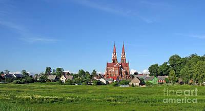 Photograph - Panorama Of Sveksna. Silute District. Lithuania. by Ausra Huntington nee Paulauskaite