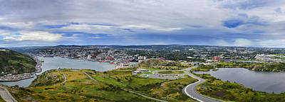 Panorama View Of St. John's Newfoundland And Labrador Canada Art Print by Steve Hurt