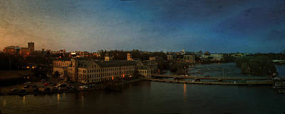 Panoramic Appleton Skyline Art Print by Joel Witmeyer
