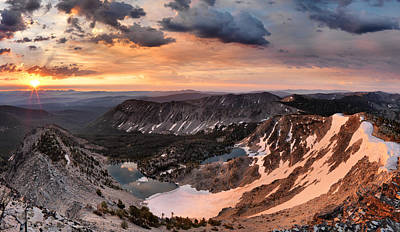 Continental Divide Photograph - Panoramic Cdt Sunrise by Leland D Howard