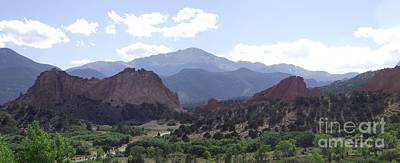 Panoramic Garden Of The Gods Art Print