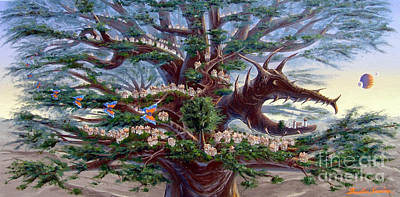 Panoramic Lorn Tree From Arboregal Art Print
