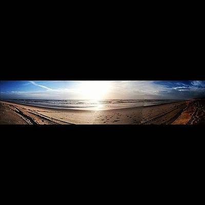 Water Wall Art - Photograph - Panoramic Picture Of The Sunrise by Lea Ward