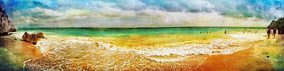 Photograph - Panoramic Seaside At Tulum by Tammy Wetzel
