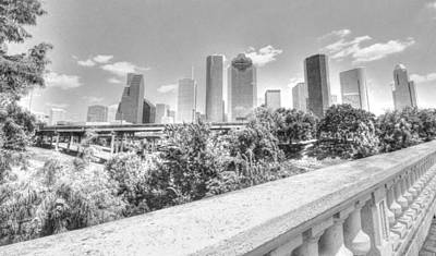 Photograph - Panoramic Shot Of Downtown Houston by David Morefield