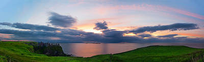 Photograph - Panoramic View From Dunluce Castle by Semmick Photo