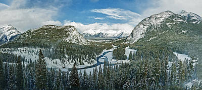 Photograph - Panoramic View Of Banff Springs Valley by Levin Rodriguez