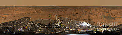 Photograph - Panoramic View Of Mars by Stocktrek Images