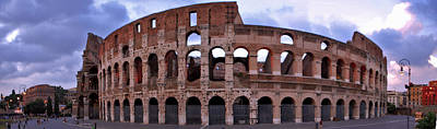 Jeka World Photograph - Panoramic View Of The Roman Colosseum by Jeff Rose
