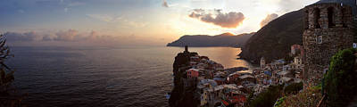 Jeka World Photograph - Panoramic View Of Vernazza by Jeff Rose