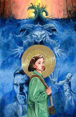 Fantasy Painting - Pan's Labyrinth by Ken Meyer jr