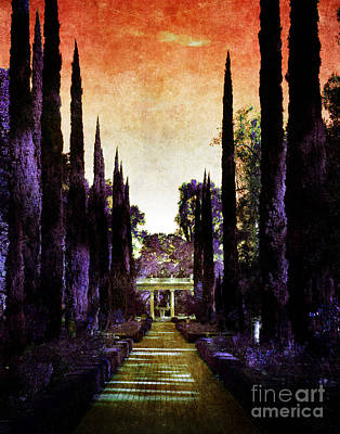 Italian Landscapes Digital Art - Pan's Twilight by Laura Iverson