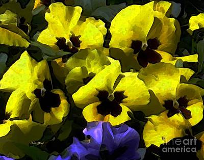 Digital Art - Pansy Party by Dale   Ford