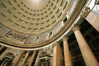 Photograph - Pantheon Rotunda Columns by Vicki Hone Smith