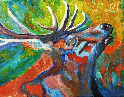 Painting - Papa Elk by April Harker