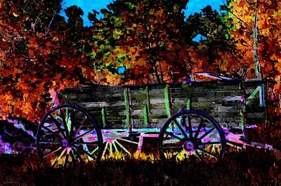 Painting - Papas Old Wagon by Lynda K Cole-Smith