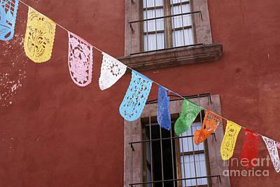 Photograph - Papel Picado San Miguel De Allende Mexcio by John  Mitchell
