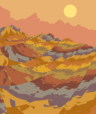 Digital Art - Paper Dunes by Mark Greenberg